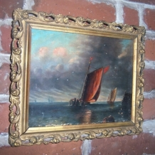 19TH CENTURY SEASCAPE, OIL ON CANVAS