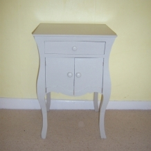 A FRENCH CUPBOARD OR SIDE TABLE