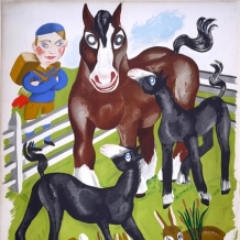 BETTY SWANWICK POSTER, FRAMED - TO THE FIELDS